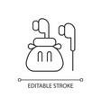 headphones linear icon vector image