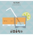 Ice peak cocktail flat style isometric vector image vector image
