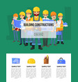 industrial building company banner with worker vector image