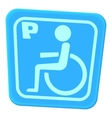 Invalid parking icon cartoon style vector image
