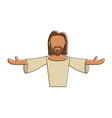 jesus face cartoon vector image vector image