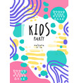 kids party colorful template with date can be vector image vector image