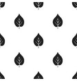 linden leaf icon in black style for web vector image vector image