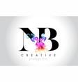 nb vibrant creative leter logo design vector image vector image