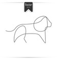 one line lion design silhouette vector image vector image