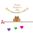 owl mom vector image vector image