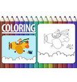 page of coloring book with contour cartoon and vector image