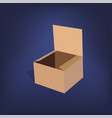 realistic cardboard package box vector image