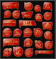 red and gold badges and labels collection vector image vector image