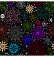 repeating dark Christmas pattern vector image vector image