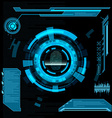 Scanning fingerprint Interface HUD vector image vector image
