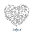 seafood banner template vector image