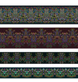 seamless horizontal ethnic border vector image