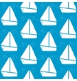 Seamless pattern with boats and waves vector image vector image