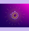 seo timer line icon settings cogwheel sign vector image vector image