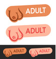set labels with sexy boobs young girls for vector image vector image