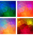 Set of Colorful geometric modern patterns vector image