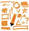 Set of Graphic Signs Arrows Circles vector image vector image