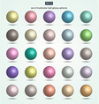 set of pastel color ball glossy spheres vector image