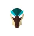 set super hero masks in flat style big vector image