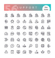 support line icons set vector image vector image