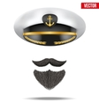Symbol of the sea captain vector image vector image