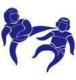 Taekwondo icon in blue color vector image vector image