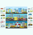 transport evacuation infographic vector image vector image