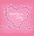 valentine day heart glowing lights vector image vector image