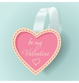 Valentines day vintage sticker vector image
