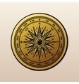 Vintage compass wind rose symbol vector image vector image