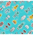 Vintage Tin Toy Robot Seamless Pattern vector image