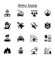 war army icons set graphic design vector image