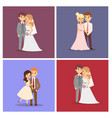 wedding couple beautiful model girl in vector image vector image