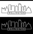 wellington skyline linear style editable file vector image vector image