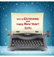 Santa Claus typewriter and snow vector image