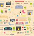 modern and stylish interior design elements set vector image