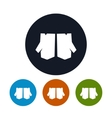 Four Types of Round Icons Work Gloves vector image