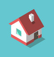 isometric house flat design vector image