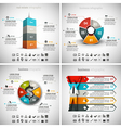 4 in 1 Infographic Bundle vector image vector image