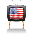 A television with the flag of the USA vector image vector image