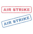 air strike textile stamps vector image vector image