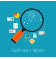analysis business finance vector image