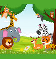 animal cartoon in the jungle vector image