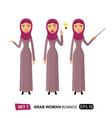 arab business woman get an idea lady presenting vector image vector image