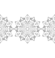 Black and white snowflake for coloring book vector image vector image
