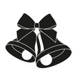 black and white two bells with ribbon bow