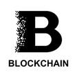black blockchain symbol vector image vector image
