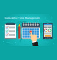 business banner - successful time management vector image vector image