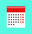 Calendar The calendar vector image vector image